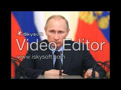 Russian president Vldimer Putin in ARD Interview with Günther Jauch