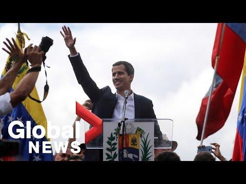 Venezuela's Juan Guaido declares himself president amid anti-Maduro protests