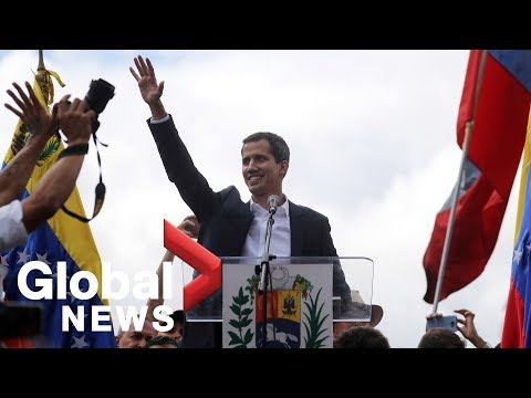 Venezuela's Juan Guaido declares himself president amid anti-Maduro protests