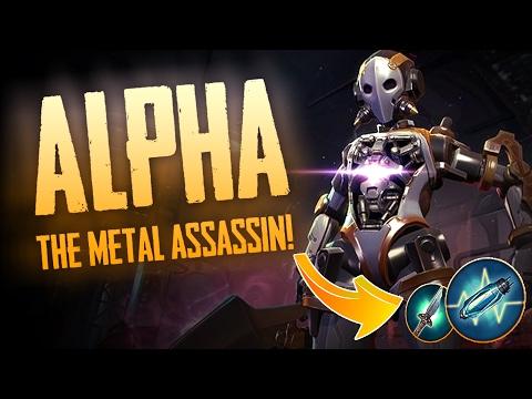 Vainglory Gameplay - Episode 293: THE METAL ASSASIN!! Alpha |CP| Jungle Gameplay [Update 2.1]