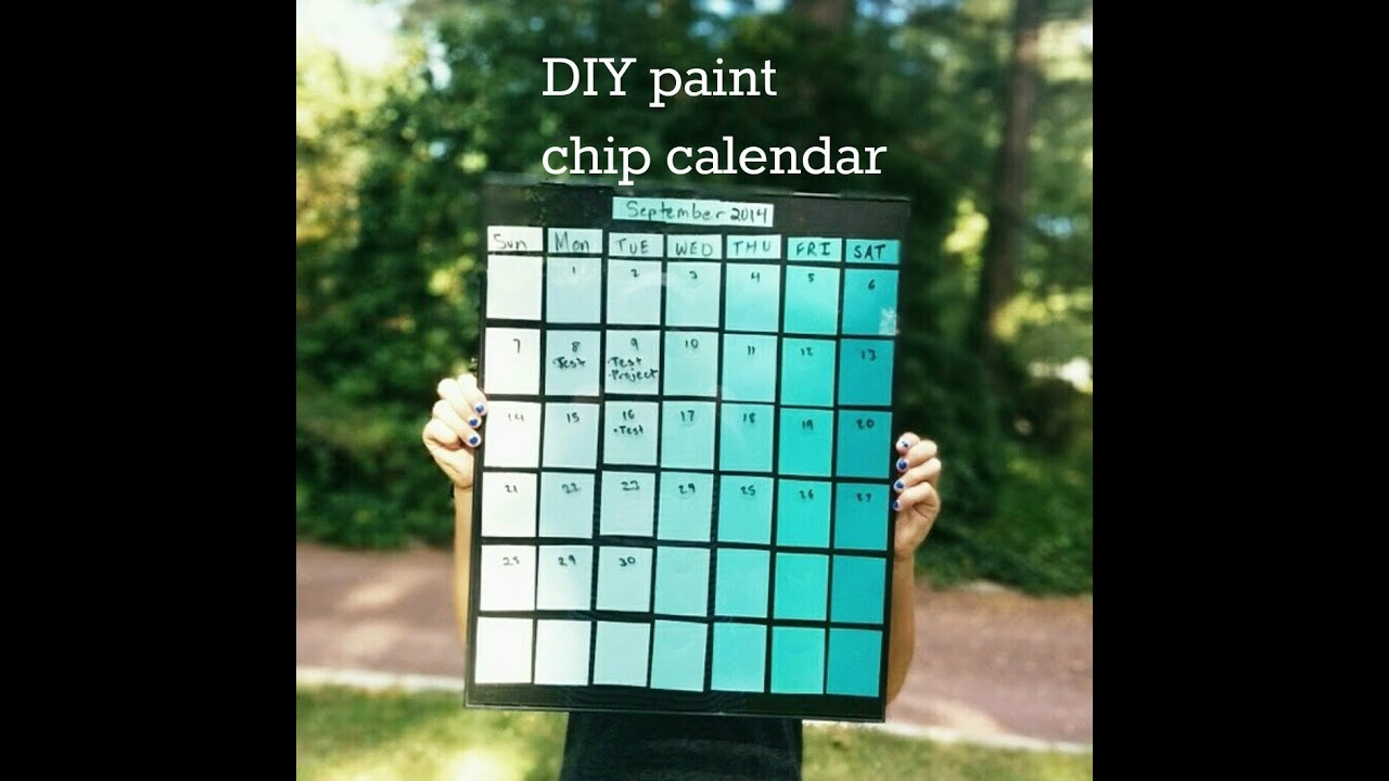 Diy Calendar With Paint Samples : Diy paint chip calendar youtube