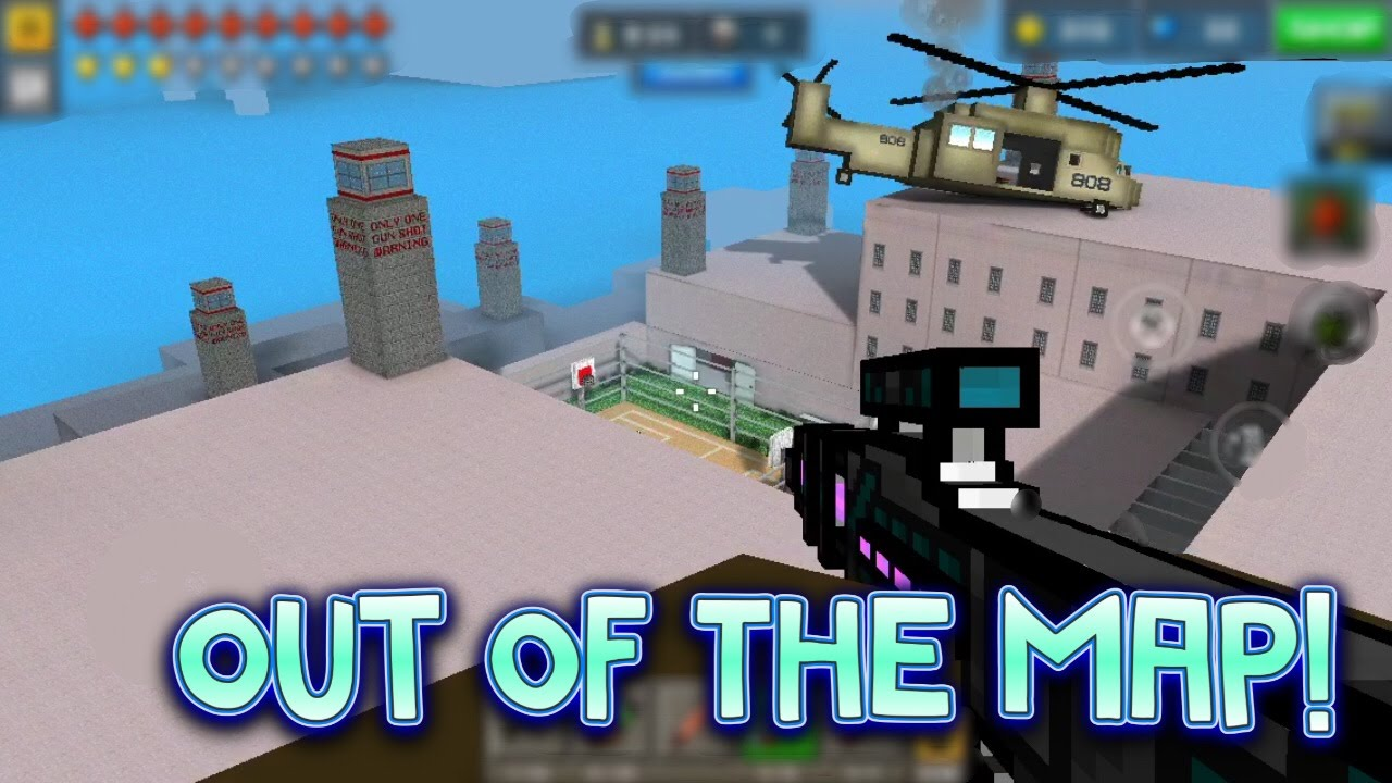 Pixel Gun D Out Of The Map Infected Prison New YouTube - 3d map of prisons in us