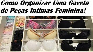 Como Organizar Uma Gaveta de Peças Intimas Feminina / Carla Oliveira
