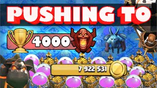 Clash of Clans - Pushing to 4,000 Trophies #1 Big Loot Raids in Masters!