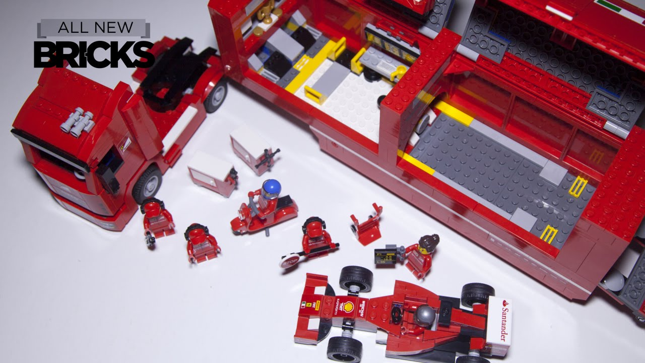 Lego Fire Truck Transporter Lego Speed Build
