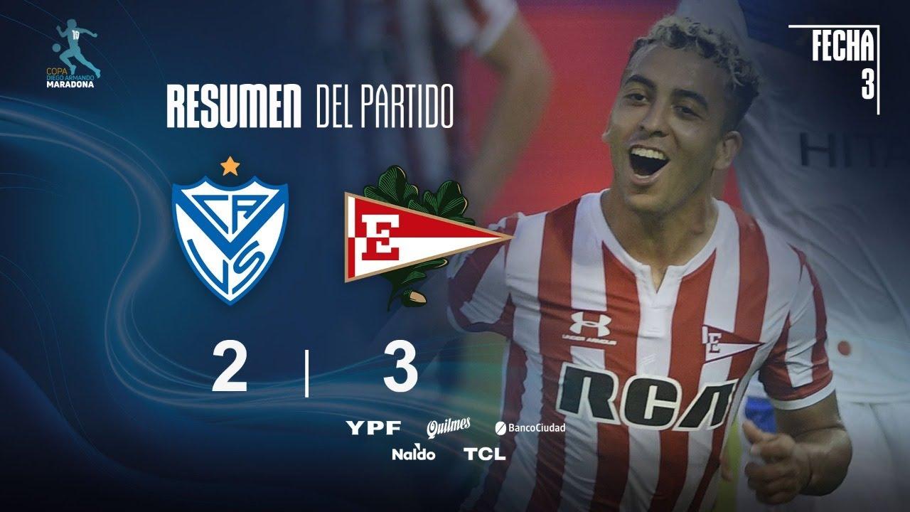 Copa Diego Maradona | Fases | Fecha 3 | resumen de Vélez - Estudiantes