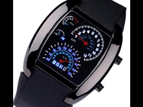 £1 LED car dial watch and a quick look inside
