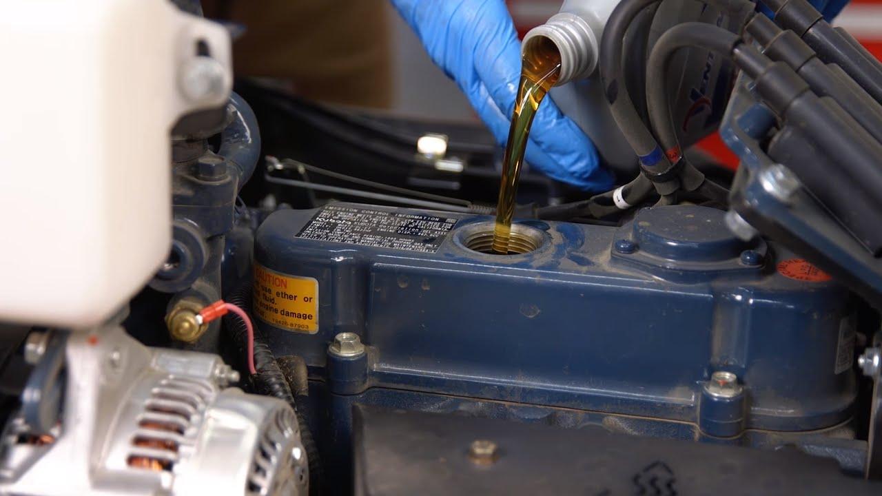 Ventrac 4500 Tractor Engine Oil Service