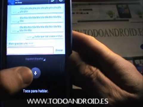 Como dictar los mensajes de texto con nuestra voz en Whatsapp para android