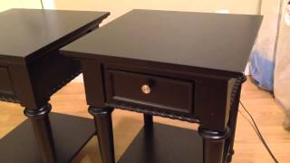 Two End Tables - Black
