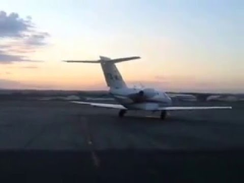 Jemax Aviation Cessna Citation Mustang departing Lanseria airport for Gaborone