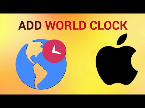 How to add clock to World clock on iPhone and iPad