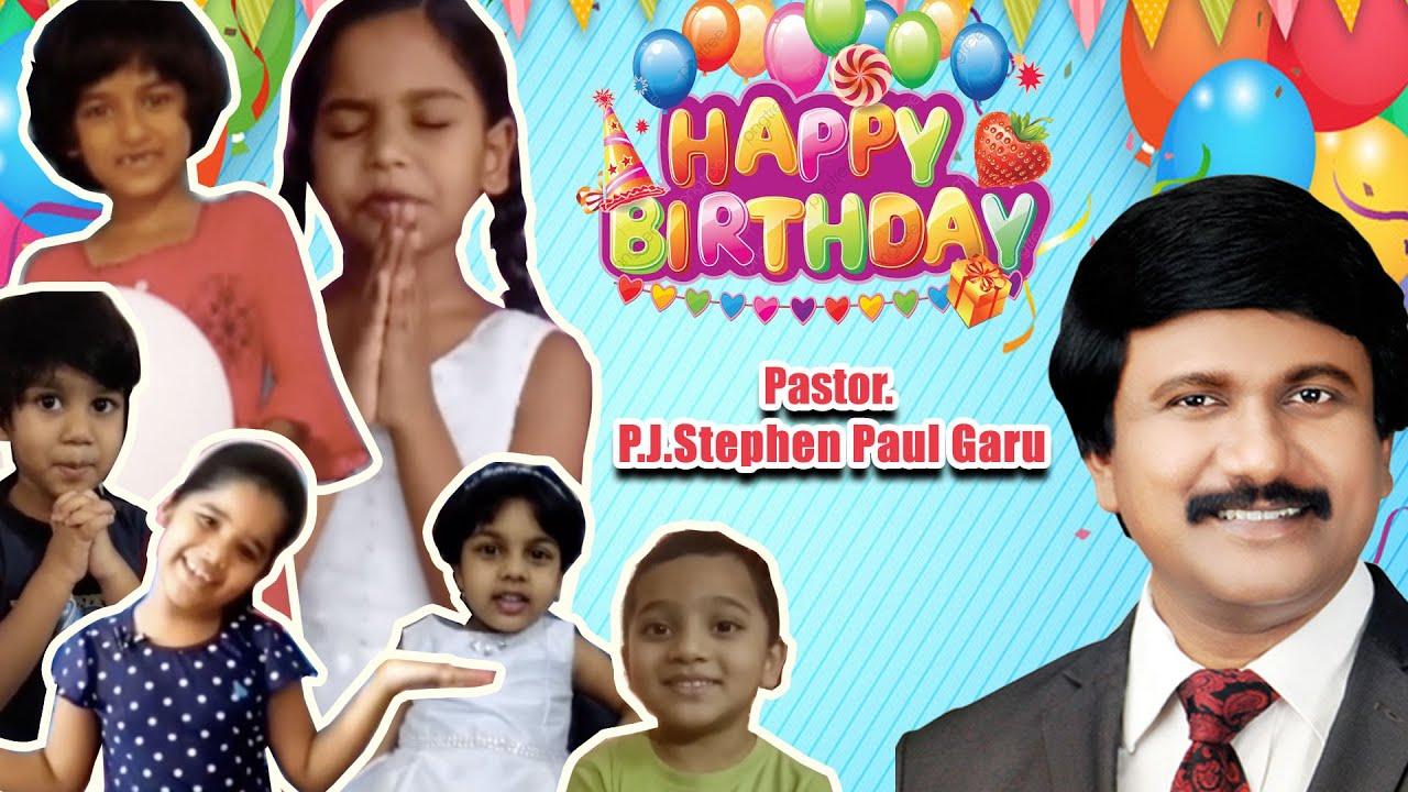 Sunday School Children Birthday Wishes To  Pastor. P.J.Stephen Paul Garu
