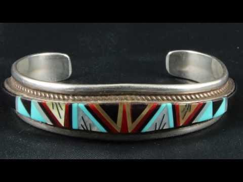 George Francis Native American inlay jewelry Zuni marks