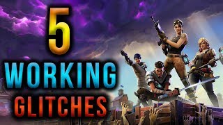 Fortnite Battle Royale - 5 Working Glitches! (No Parachute/Fly Forever & God Mode!)