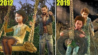 Young Clementine & AJ have FUN on the SWING In The Walking Dead Series (2012 & 2019)