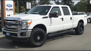 2011 Ford F-250 XLT W/ Upfitter Switches, 6 1/2 foot box, Tailgate Step Review| Island Ford