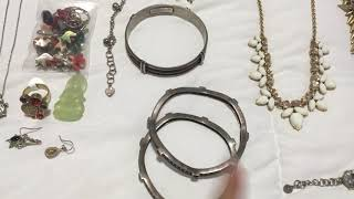 Yard sale haul, thrift haul, jewelry haul #59 (May 26, 2019)