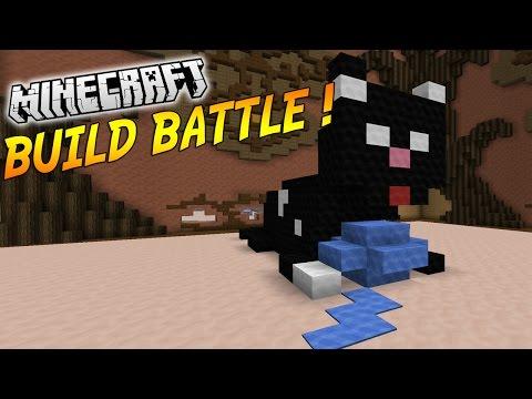 NOUVELLE RACE DE CHAT EN VUE ! | BUILD BATTLE ( Avec Popigames ) | Minecraft