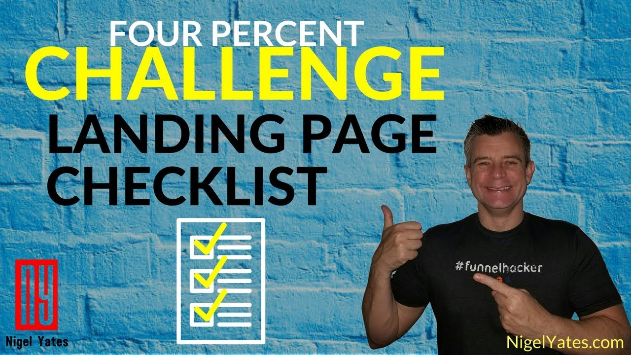 Four Percent Challenge Review - Clickfunnels Landing Page Setup: 4-Step Checklist