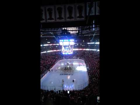 2013 Stanley Cup Final National Anthem in Chicago