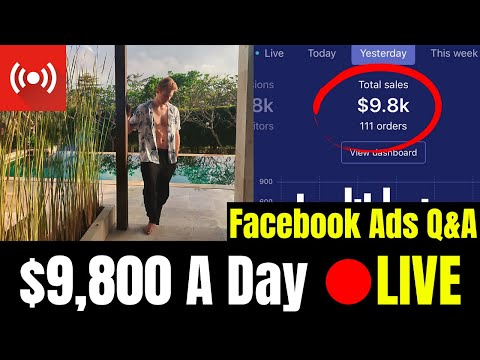 $9,800 A Day LIVE Facebook Ads Q&A (Shopify Secrets Revealed) thumbnail