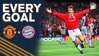 Every Manchester United UCL Goal vs Bayern Munich! | Sheringham, Solskjaer, Evra & more!