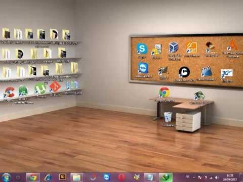 tuto comment personnaliser son bureau avec 2 logiciel doovi. Black Bedroom Furniture Sets. Home Design Ideas