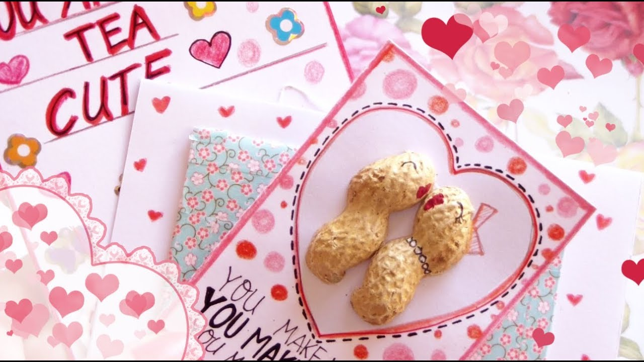 DIY Cute Valentines Day Cards YouTube – Cute Valentine Card Ideas for Him
