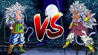 Dragon Ball Z Tenkaichi Tag Team Goku SSJ5 vs Broly SSJ5