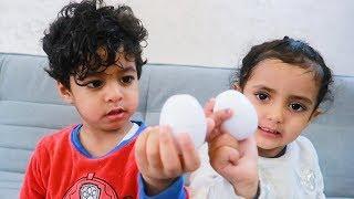 لعبة البيض الغريبه مع أنس ولمار !!