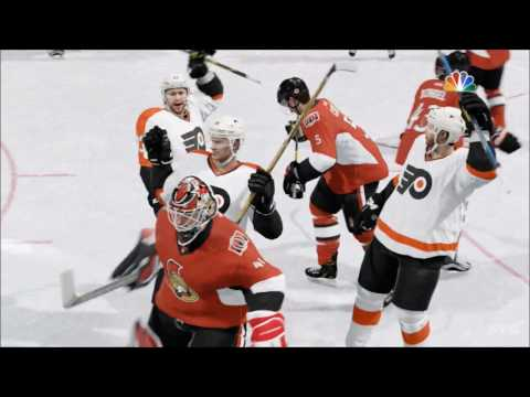 NHL 17 - Philadelphia Flyers vs Ottawa Senators | Gameplay (HD) [1080p60FPS]