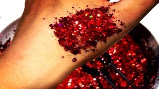 MIXING GLITTERS - MIX DIFFERENT COLOR GLITTERS TOGETHER  - NEW TREND - ASMR SOUNDS (NOT SLIME)