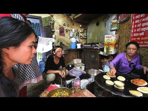 SECRET Nepali Street Food Tour | DEEP into KATHMANDU ( Bara + Yomari )