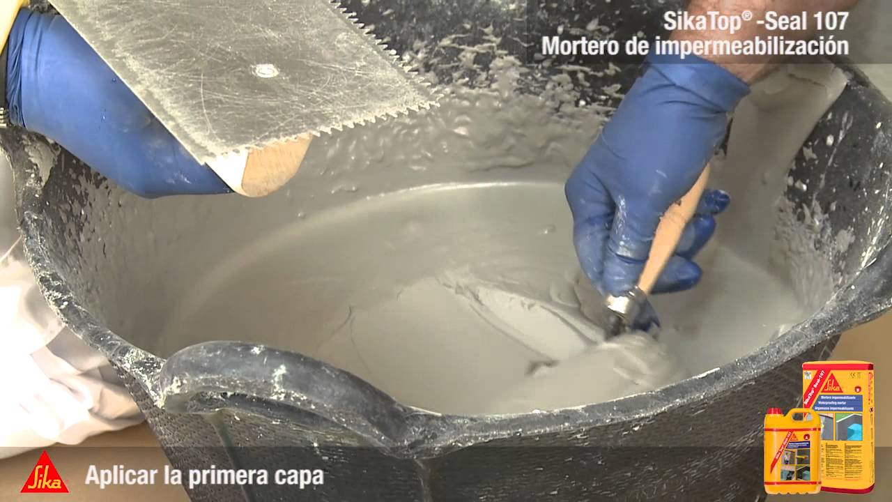 Mortero de impermeabilizaci n sika espa a youtube for Impermeabilizante para estanques de agua