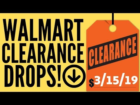 New Walmart Clearance Alerts for Retail Arbitrage | 3/15/19