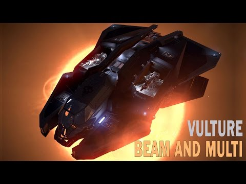 Elite:Dangerous. Vulture Thermal Vent Beam and Corrosive Shell Multi-Cannon combo