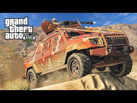 GTA 5 NEW ARMORED MILITARY TRUCK!! (GTA 5 Gunrunning DLC Update)