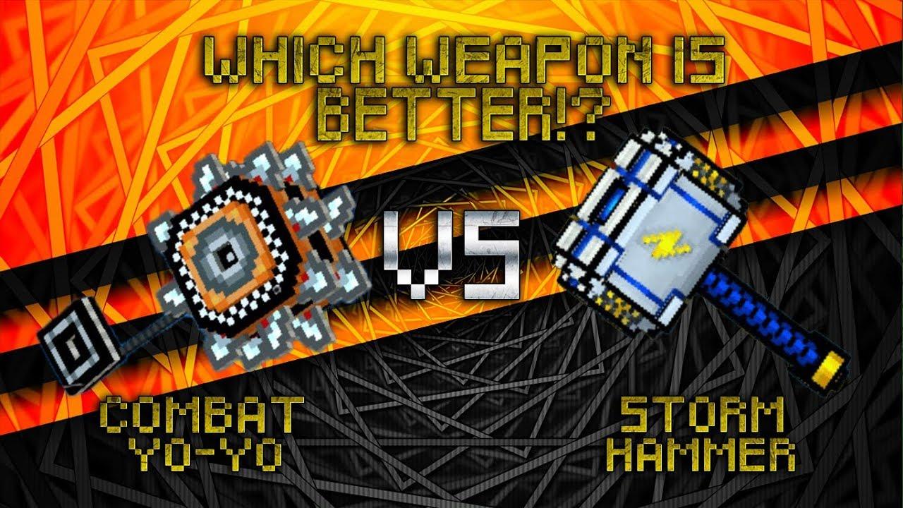 Pixel Gun 3d Combat Yo Yo Vs Storm Hammer Youtube