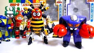 【ビーロボカブタック】スーパーチェンジ!4.スパイドン & 5.ガニラン ヲタファのスーパーチェンジシリーズレビュー / B-Robo Kabutack Spidon,Ganirun