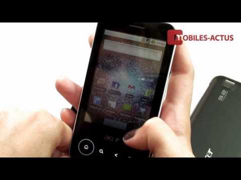 Test Acer beTouch E400 - Démo vidéo, revue, prise en main
