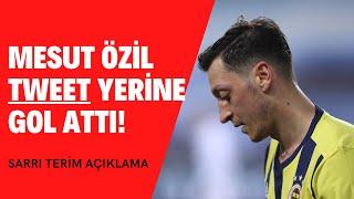 Mesut Özil tweet yerine bu kez gol attı  Fatih Terim maç sonu açıklamalar  Frankfurt Fenerbahçe