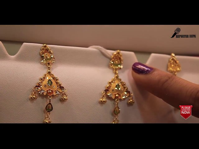 ???? ??? ?? ????? ????? ????? ????? ????21 K.D.M Gold ear ring price.