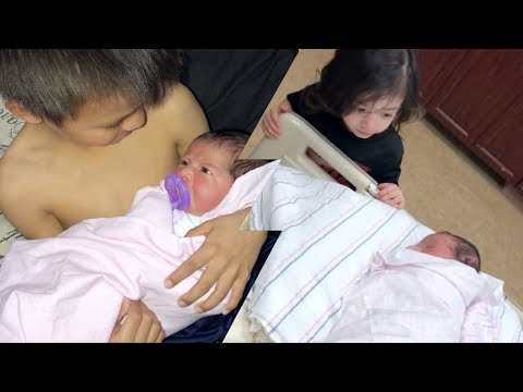 Baby's 1st Day, Boys Meet Sissy, and Baby Update Vlog