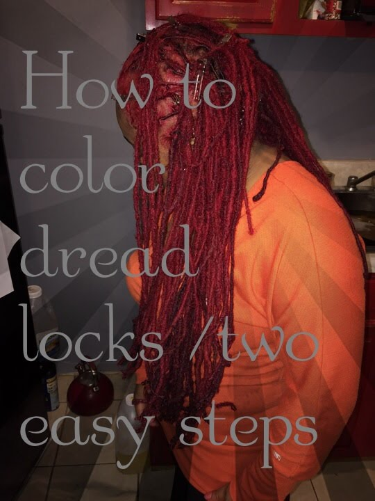 How to color DREADLOCKS/ Two easy steps - YouTube