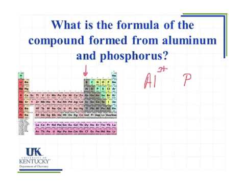 301 Formula Of The Compound Formed From Aluminum And Phosphorus