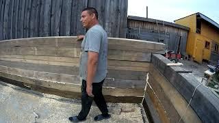 Строим новое помещение для скота.Возводим стены.