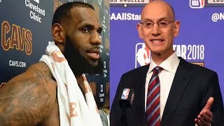 LeBron James reacts to New NBA Playoffs Format Suggestion and Opposes it!