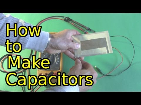 How to Make Capacitors - Low Voltage Homemade/DIY Capacitors