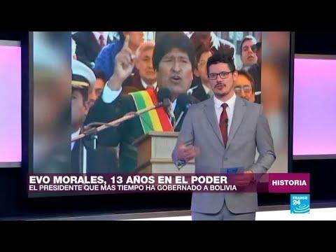 Evo Morales, 13 años en el poder de Bolivia, y contando